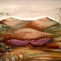 Szürrealista festmények az ágyban