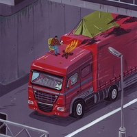 Hajléktalan gyújtott fel egy száguldó kamiont