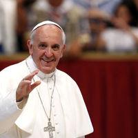 Váratlan helyen bukkant fel a pápa