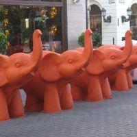 Tavasszal megszállják Budapest utcáit a színes elefántok