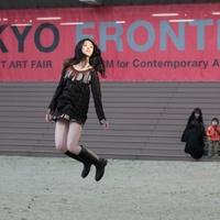 Fotók a lebegő japán lányról