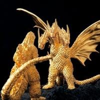 Godzilla-szobrok 15 kiló aranyból