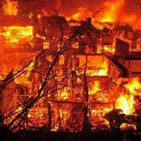 Tűz pusztított az ősi tibeti városban