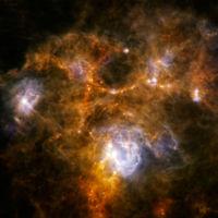 Színpompás gázfelhő a Herschel-teleszkóp felvételén