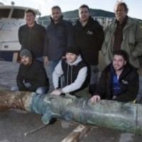Több száz éves ágyú a tengerben