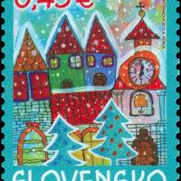 Magyar kislány rajza került a szlovák karácsonyi bélyegre