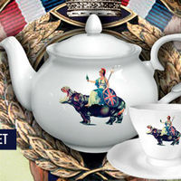 Brit témájú teáskészlet a Blurtől