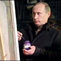 Putyin festészetre adta a fejét