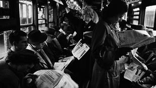Szokatlan fotók: világhírű filmes a metróban