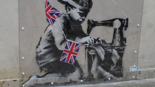 Eltűnt a falról Banksy kisgyereke