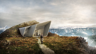 Sejtelmes épület készül az olasz hegyekben