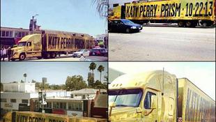 Kamionon hirdeti albumát Katy Perry