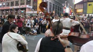 Magyar flashmob a Times Square-en
