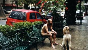 Lefotózták a meztelen kutyasétáltatót