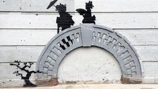 Szigorúan őrzik Banksy gésáit