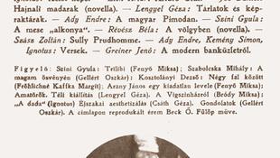 105 éve jelent meg az első Nyugat