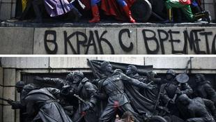 Megrongálták a hősi emlékművet