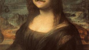 Bajuszt növesztett Mona Lisa