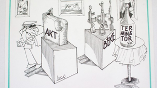 Karikaturista Szent György Lovag – Lucky