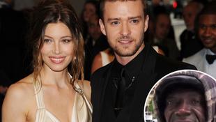 Hajléktalanok köszöntötték Timberlake-et esküvőjén