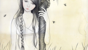 Méhek fészkelték be magukat egy lány hajába