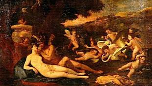 Poussin-kép a Louvre raktárában