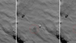 """A Rosetta rögzítette a Philae """"pattogó"""" érkezését"""