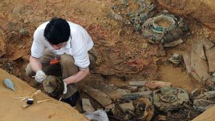 Befolyásos kínai nő sírjára bukkantak