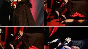 Madonna hatalmasat zuhant a rajongói előtt