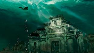 Kínai város a víz alatt