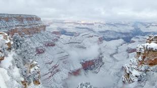 Hó borítja a Grand Canyont