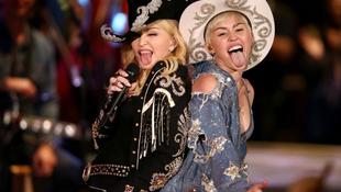 Miley Cyrus és Madonna közt nagy az összhang