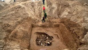 1500 éves koporsót nyitottak fel Észak-Kínában