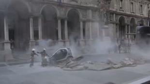 Eltévedt tengeralattjáró pusztított Milánóban