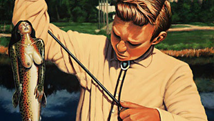 Meztelen lányt fogott egy horgászó kisfiú