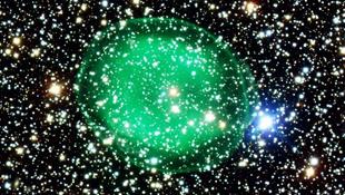 Zöld csillagködöt kaptak lencsevégre
