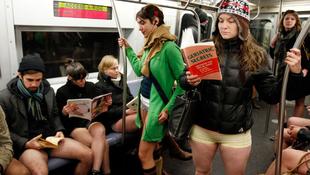 Nadrág nélkül a metrón