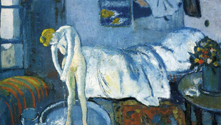 Portré lapult Picasso mesterműve alatt