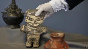 Műkincseket kapott vissza Peru