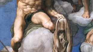 Emberbőr lóg a kápolnában
