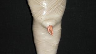 Kétfejű lány múmiáját állítják ki