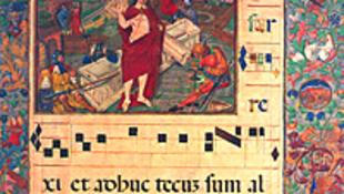 Mátyás legdíszesebb corvinája a könyvespolcon