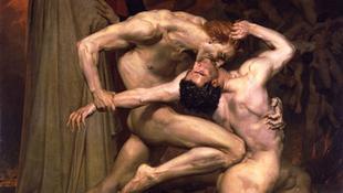 Egymást harapdálták a meztelen férfiak