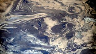 Iráni sivatag a magasból