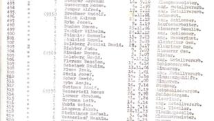 Kalapács alatt Schindler listája