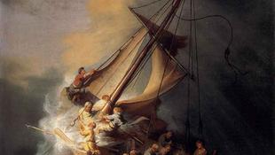 Jézus jelent meg a viharban