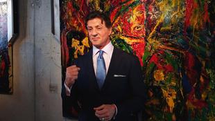 Stallone, a sztárfestő