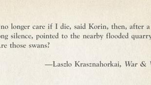 Krasznahorkai lett a világ egyik legjobbja