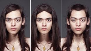 Többarcú modelleket fotózott a művész