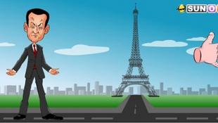 Nyilvánosan felpofozták a francia elnököt